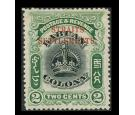 SG142a. 1906 2c Black and green. Very fine fresh mint...
