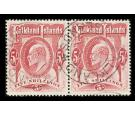 SH50. 1904 5/- Red. Superb fine used pair...