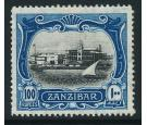 SG244. 1908 100r Black and steel-blue. Superb well centered mint