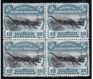 SG D8b. 1895 12c Black and blue. Brilliant mint block of four...
