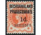 SG6. 1900 1d on 1/2d Vermilion. Superb fresh mint...
