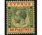 SG117. 1924 90pi Green and red/yellow. Superb fresh mint...
