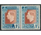 SG75a. 1937 1/- Red-brown and turquoise-blue. 'Hyphen Omitted'.