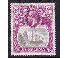 SG104a. 1922 6d Grey and bright purple. 'Broken Mainmast'. Brill