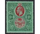 SG146. 1927 10/- Red and green/green. Brilliant fresh perfectly.