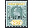 SG57s. 1906 2/6 Green and yellow. 'Specimen'. Superb fresh mint.