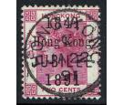"SG51a. 1891 2c Carmine. Short ""J"" in ""JUBILEE"". Superb fine used"