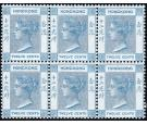 SG60. 1901 12c Blue. Brilliant fresh mint block of 6, mostly U/M