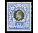 SG141, 1902 £1 Black and bright blue. Superb fresh mint...