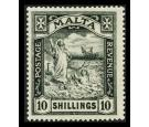 SG104. 1922 10/- Black. Brilliant fresh mint with beautiful...