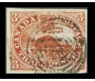 SG18. 1857 3d Red. Very fine used...