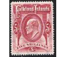 SG50. 1904 5/- Red. Superb fresh well centred...