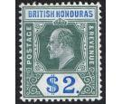 SG92. 1907 $2 Grey-green and blue. Brilliant fresh mint...