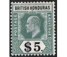 SG93. 1907 $5 Grey-green and black. Brilliant fresh mint...