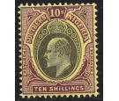 SG19. 1903 10/- Grey-black and purple/yellow. Brilliant U/M mint