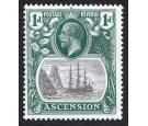 SG11b. 1924 1d Grey-black and deep blue-green. 'Torn Flag'...