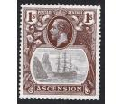 "SG18c. 1924 1/- Grey-black and brown. ""Cleft Rock"". Brilliant fr"