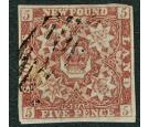 SG13. 1860 5d Venetian red. Very fine used...