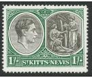 SG75ca. 1950 1/- Black and green. 'Break in value tablet'. U/M m
