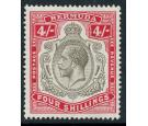 SG52b. 1920 4/- Black and carmine. Choice superb fresh well cent