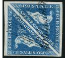 SG4a. 1853 4d Blue. Gorgeous fine used pair...