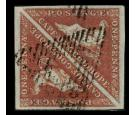 SG1a. 1853 1d Deep brick-red. Choise used pair...