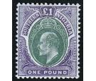 SG20. 1903 £1 Green and violet. Brilliant fresh mint...