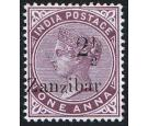 SG23. 1890 2 1/2 on 1a Plum. Superb fresh well centred  mint...