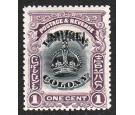 SG11a. 1906 1c Black and purple. 'Black Overprint'. Superb fresh