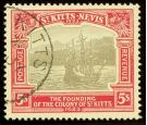 SG59. 1923 5/- Black and red/pale yellow. Brilliant fine well ce