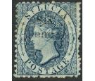 SG10. 1863 6d on (4d) Indigo. Extremely fine mint...