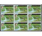 SG5. 1967 4c Nelson's Spring. Brilliant U/M block of 9...