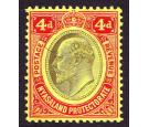 SG76w. 1908 4d Black and red/yellow. 'Watermark Inverted'. Brill