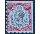 SG110a. 1924 2/6 Black and carmine-red/pale blue. 'Break in scro