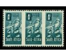 SG97c. 1/2d Blue-green. 'Roulettes Omitted'. U/M triplet...