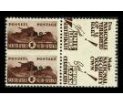 SG130c. 1944 1/- Brown. 'Overprint Inverted'. Brilliant U/M mint