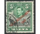 SG247b. 1948 5/- Black and green. 'Semaphore Flaw'. Superb fine
