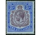 SG51bb. 1920 2/- Purple and blue/blue. 'Broken crown and scroll'