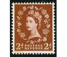 SG605a. 1959 2d Light red-brown. 'Error'. Brilliant U/M...