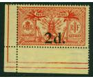 SG35. 1911 2d on 40c Red/yellow. A fantastic corner sheet...