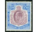 SG82. 1908 £10 Purple and ultramarine. Brilliant fresh...