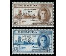 SG123s-124s. 1946 Set of 2. 'SPECIMEN'. Superb...