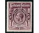 SG67b. 1916 5/- Maroon. Superb mint...