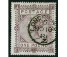 SG129. 1878 £1 Brown-lilac. Superb fine used...