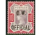 SG O35. 1902 10d Dull purple and carmine. Superb fresh mint...
