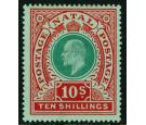 SG170. 1908 10/- Green and red/green. Superb fresh mint...