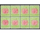 SG D79a. 1919 1/2d Carmine and apple-green. U/M Block of 8...