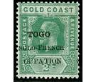 SG H34e. 1915 1/2d Green 'CUPATION' for 'OCCUPATION'. U/M...