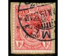 SG H35h. 1915 1d Red 'Overprint Inverted'. Superb used...