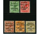SG47-51. 1922 Thom (wide). Set of 5. All superb used...